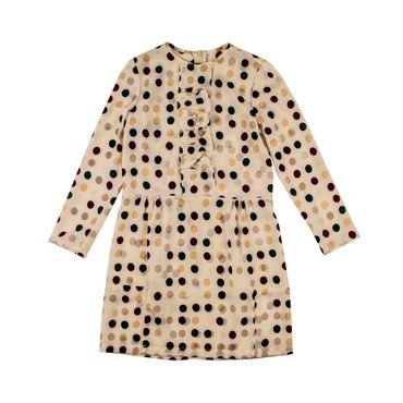 Marni Langarm-Kleid gepunktet - cremerosé
