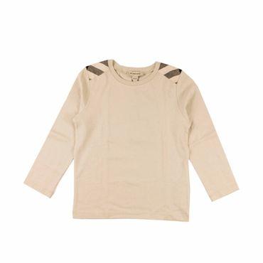 Burberry Langarmshirt mit Schultereinsätzen - sand