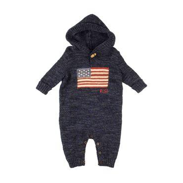 Ralph Lauren Baby Strick-Strampler - dunkelblau