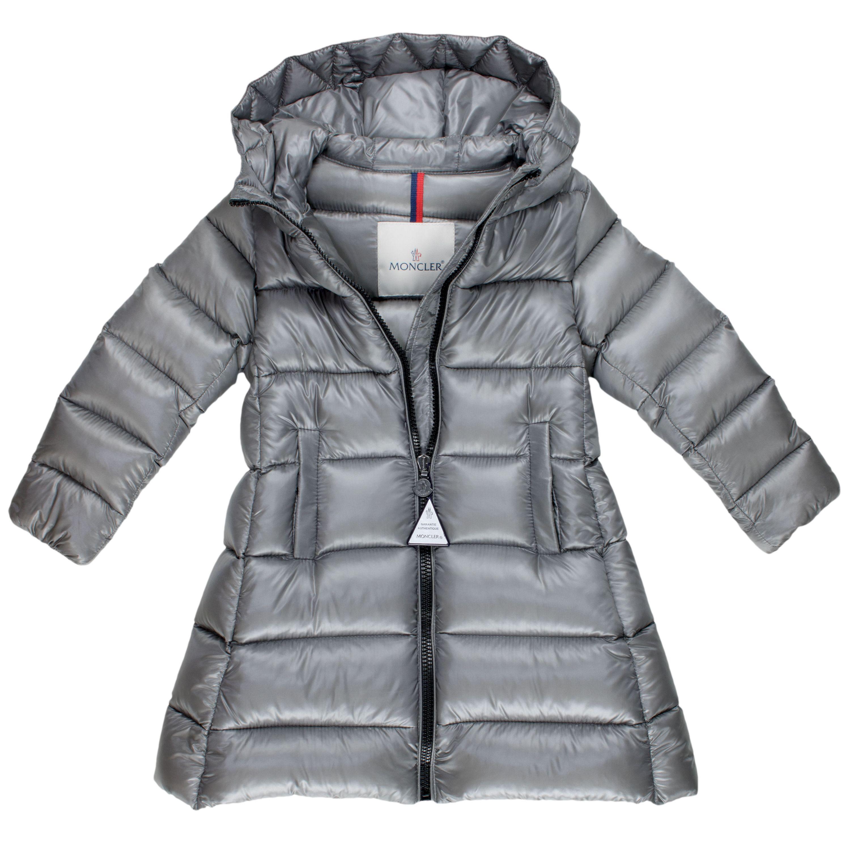 Details zu Moncler Mädchen Daunenmantel Suyen grau Kapuzen Jacke Winter Mantel NP €425