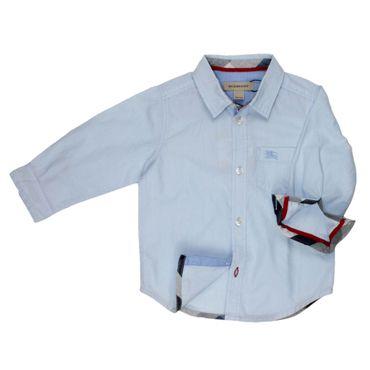 Burberry Hemd kleinkariert - hellblau
