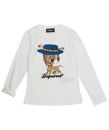 Dsquared2 Langarmshirt - weiss