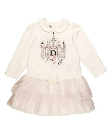 Blumarine Baby Kleid - weiss /  rosa