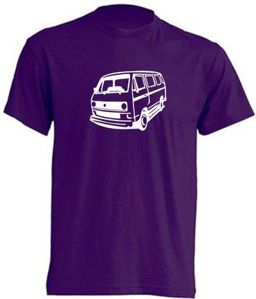 T3-Bus mit runden Scheinwerfern T-Shirt Busliebe24 – Bild 10