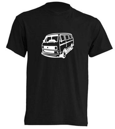 T3-Bus mit runden Scheinwerfern T-Shirt Busliebe24 – Bild 3