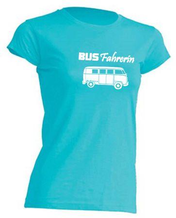 Busfahrerin T1-Bus T-Shirt Busliebe24 – Bild 3