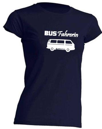 Busfahrerin T3-Bus T-Shirt Busliebe24 – Bild 4