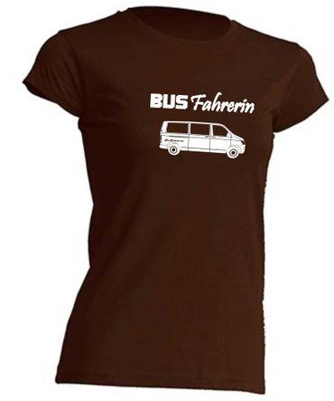 Busfahrerin T6-Bus T-Shirt Busliebe24 – Bild 3