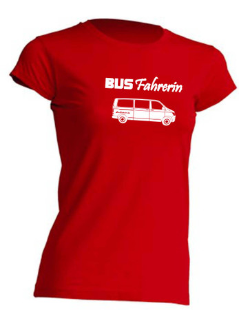 Busfahrerin T6-Bus T-Shirt Busliebe24 – Bild 1