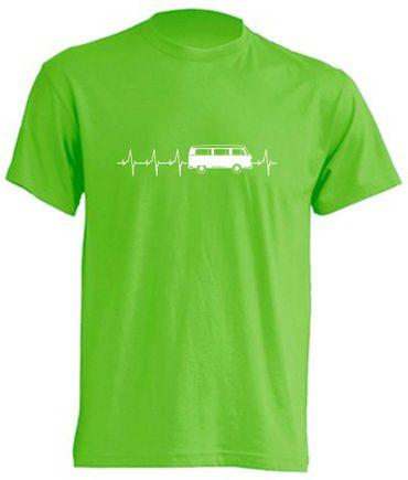 Herzschlag T2-Bus T-Shirt Busliebe24 – Bild 3