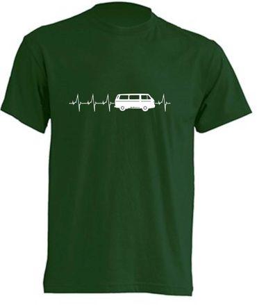 Herzschlag T3-Bus T-Shirt Busliebe24 – Bild 1