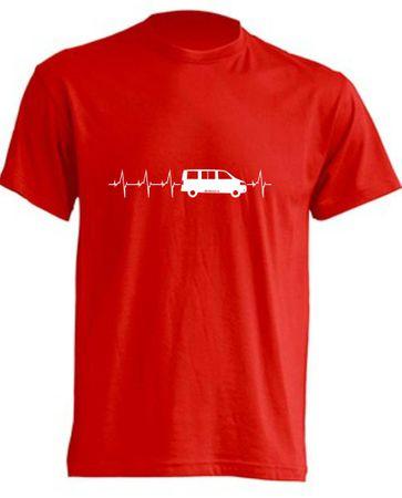Herzschlag T5-Bus T-Shirt Busliebe24 – Bild 1