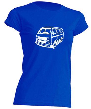 T3-Bus(runde Scheinwerfer) Lady T-Shirt Busliebe24 – Bild 2