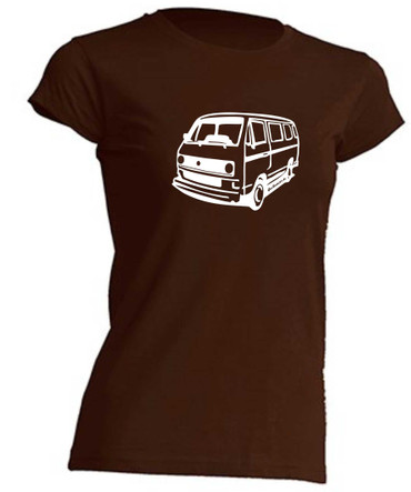 T3-Bus(runde Scheinwerfer) Lady T-Shirt Busliebe24 – Bild 3