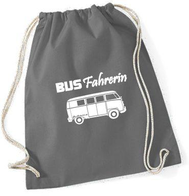 """Turnbeutel / Rucksack """"Busfahrerin T1 """" – Bild 7"""