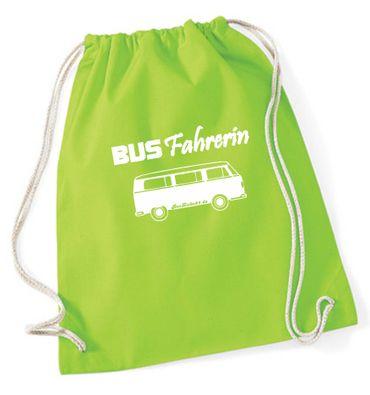 """Turnbeutel / Rucksack """"Busfahrerin T2 """" – Bild 1"""