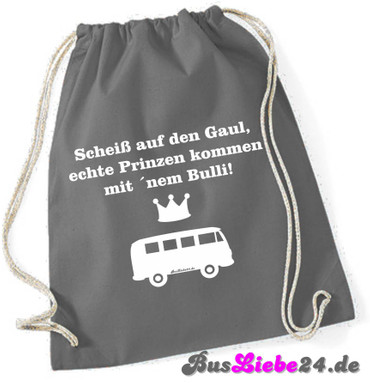 """Turnbeutel / Rucksack """"Scheiss auf den Gaul.. T1"""" – Bild 1"""