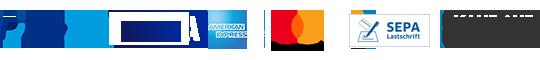 PayPal Plus, Lastschrift (SEPA-konform), Kreditkarte und Rechnung