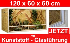 Terrarium 120 x 60 x 60 cm Seitenbelüftung