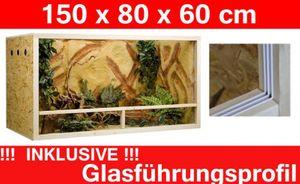 Terrarium 150 x 80 x 60 cm Seitenbelüftung