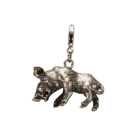 Trachten-Anhänger Wildschwein (antik-silber-farben)