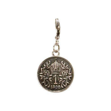 Anhänger Münze klein (antik-silber-farben) Bild 2