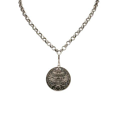 Anhänger Münze groß (antik-silber-farben) Bild 5