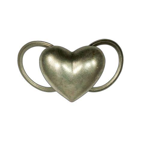 Trachten-Tuchhalter Herz (antik-silber-farben)