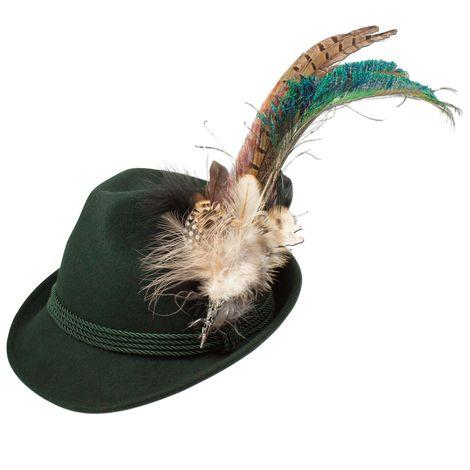 Filzhut Pfauenfeder (grün) Bild 1