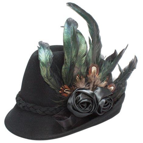 Filzhut Rosamunde (schwarz) Bild 2
