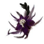Feder-Clip Brosche (lila-violett)
