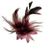 Feder-Clip Brosche (hell-lila-violett)