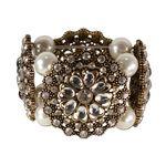 Armband Perlenblüte (creme-weiß)