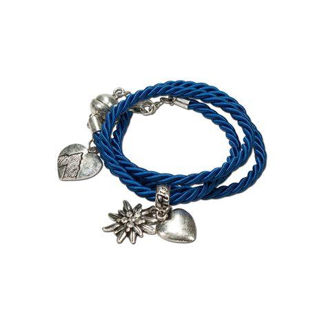 Wickel-Armband Edelweiß (blau) Bild 1