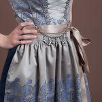 Dirndl-Charivari Oktoberfest (antik-silber-farben)