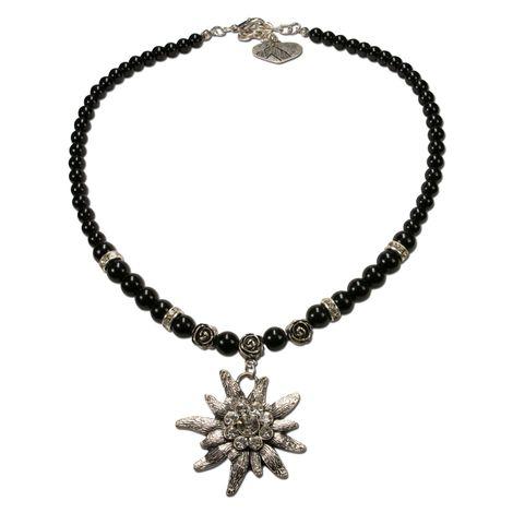 Edelweiß-Perlenkette Fiona (schwarz) Bild 1
