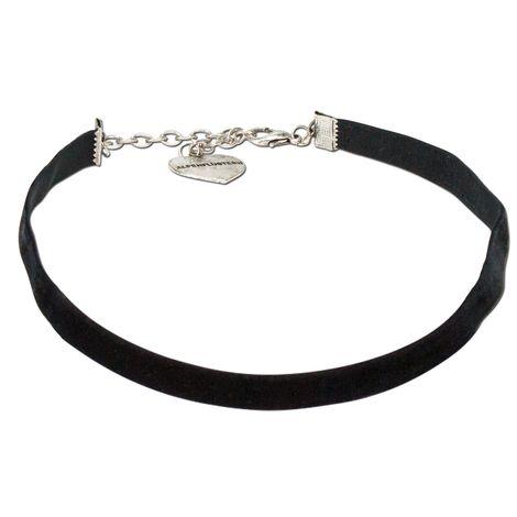 Trachten-Samt-Kropfband elastisch (schwarz)