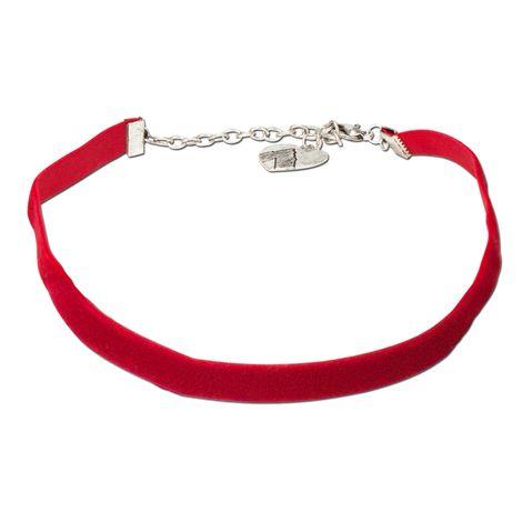 Trachten-Samt-Kropfband elastisch (rot)