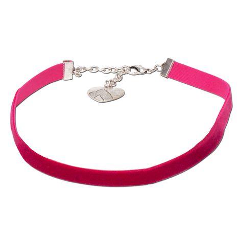 Samt-Kropfband elastisch (pink-fuchsia) Bild 1