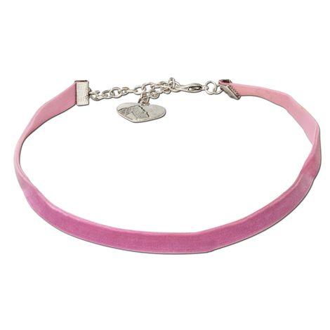 Samt-Kropfband elastisch (rosé-rosa) Bild 1