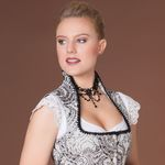 Perlen-Kropfkette Elise (schwarz)