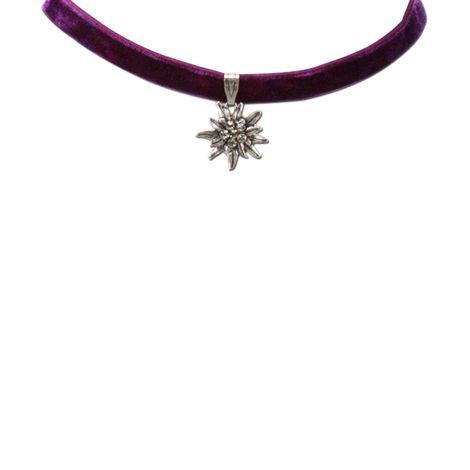 Samt-Kropfband Strass-Edelweiß klein (lila-violett) Bild 2