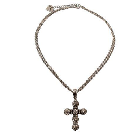 Halskette Strass-Kreuz (klar-kristall) Bild 1