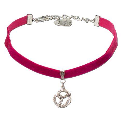 Samt-Kropfband Strass-Brezel (pink-fuchsia) Bild 1