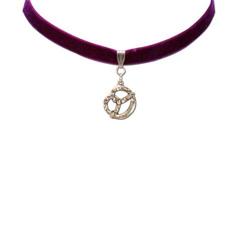 Samt-Kropfband Strass-Brezel (lila-violett) Bild 2