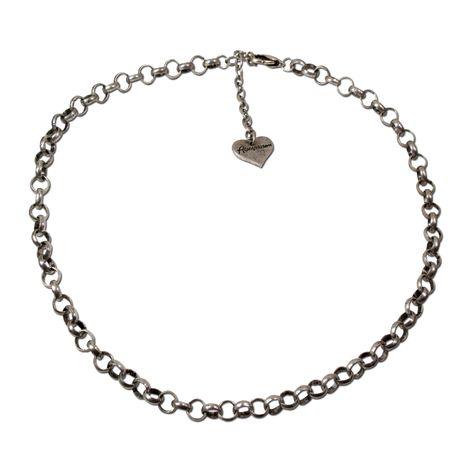Erbsketten-Halskette Puro (antik-silber-farben)