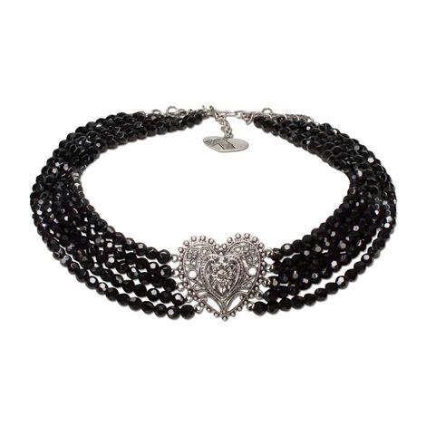 Perlen-Collier Louise (schwarz) Bild 1