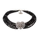Perlen-Collier Louise (schwarz)