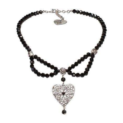 Perlen-Halskette Lara (schwarz) Bild 1