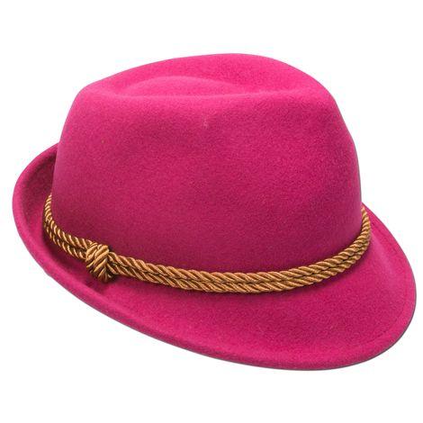 Filzhut goldene Kordel (pink-fuchsia) Bild 3